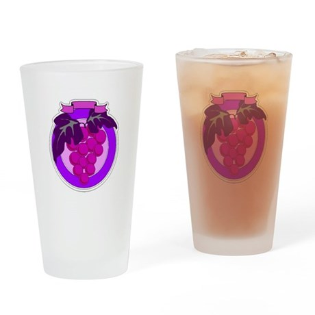 Purple Grapes Drinking Glass