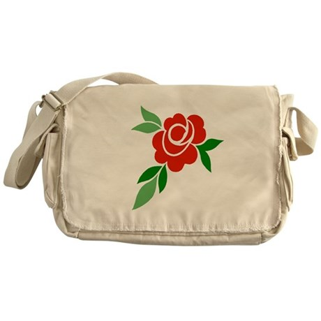 Red Rose Messenger Bag