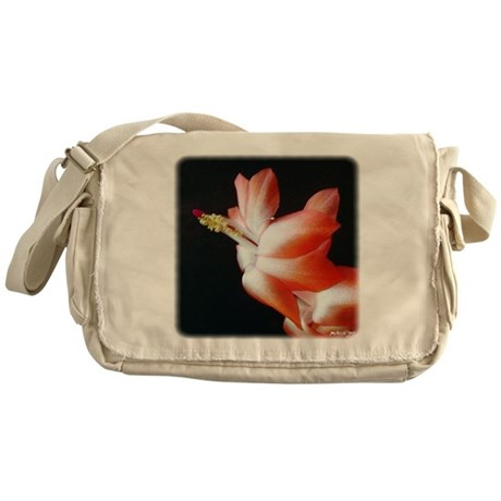 Orange Christmas Cactus Messenger Bag