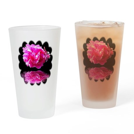 Peony Reflections Drinking Glass