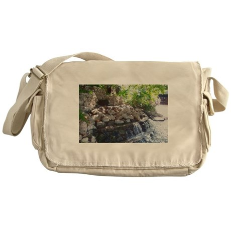 Garden Waterfall Messenger Bag