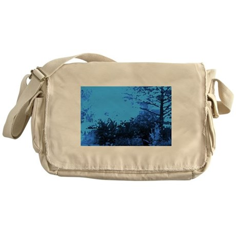 Blue Garden Messenger Bag