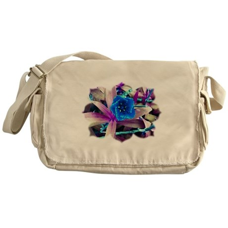 Blue Flower Messenger Bag