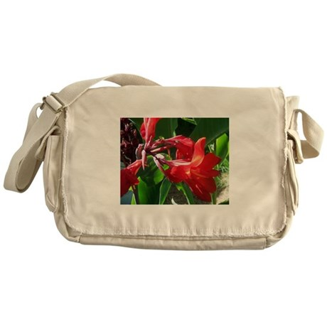 Red Canna Messenger Bag