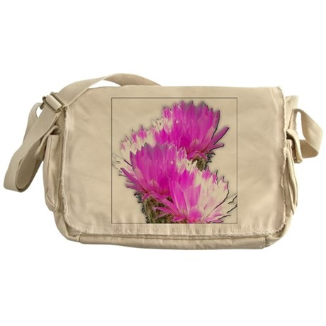 Cactus Blooms Messenger Bag