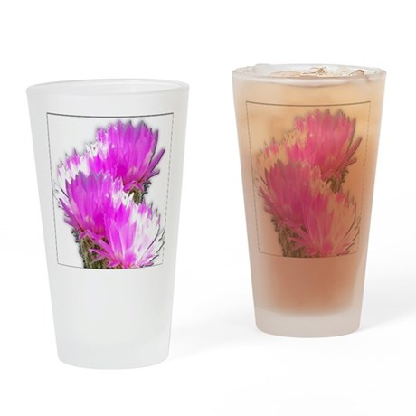 Cactus Blooms Drinking Glass
