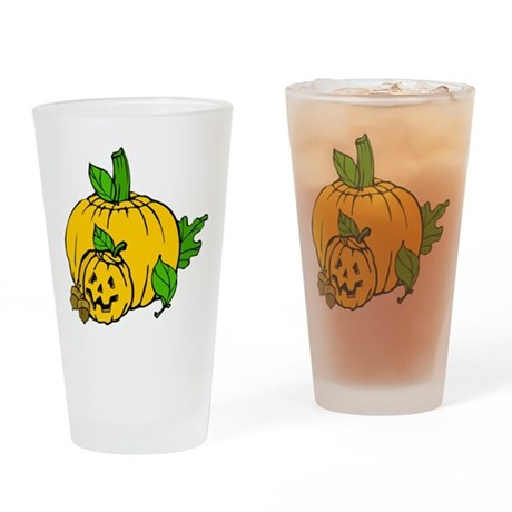 Jack 0 Lantern Drinking Glass