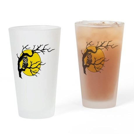 Harvest Moon Owl Drinking Glass
