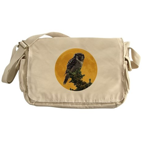 Owl and Moon Messenger Bag