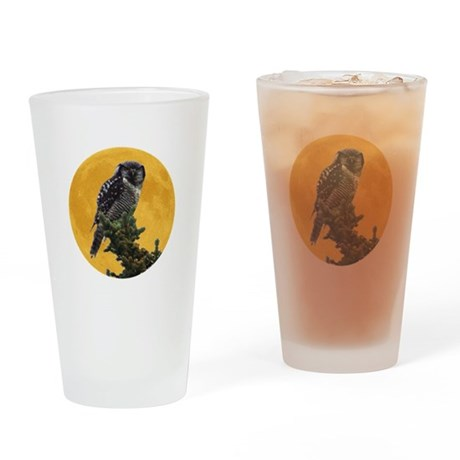 Owl and Moon Drinking Glass
