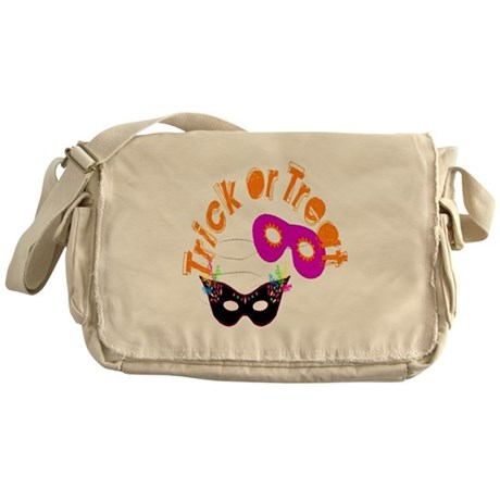Trick or Treat Masks Messenger Bag