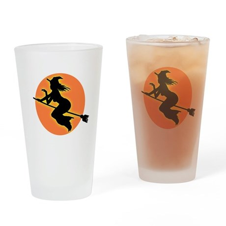 Witch Moon Drinking Glass
