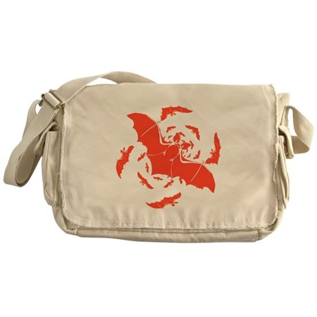 Orange Bats Messenger Bag