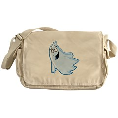 Happy Ghost Messenger Bag