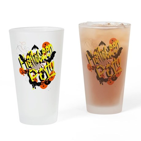 Halloween Party Drinking Glass