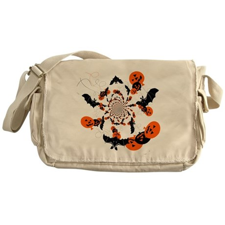 Pumpkin Bats Messenger Bag
