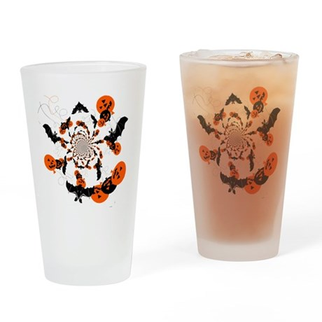 Pumpkin Bats Drinking Glass