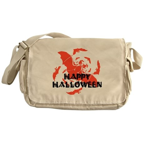 Happy Halloween Bats Messenger Bag