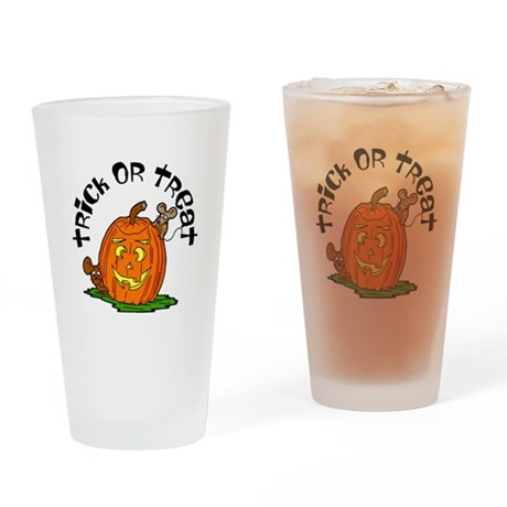 Pumpkin Mice Drinking Glass