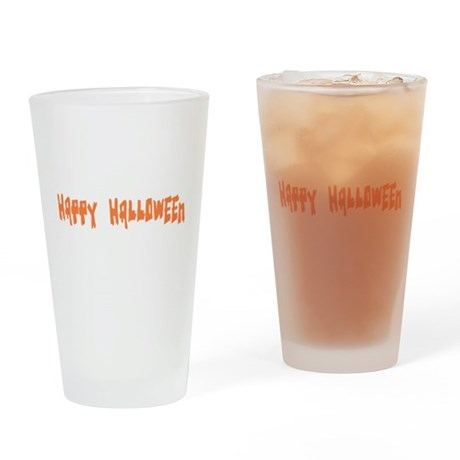 Happy Halloween Drinking Glass