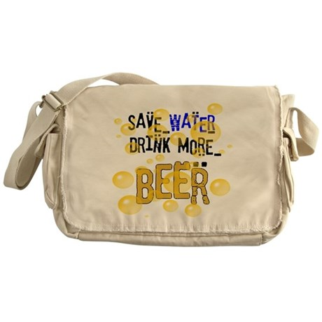 Save Water Drink Beer Messenger Bag