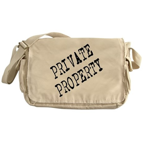 Private Property Messenger Bag