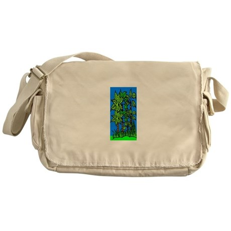Abstract Trees Messenger Bag