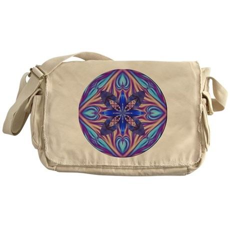 Kaleidoscope Fractal Messenger Bag