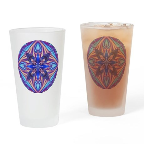 Kaleidoscope Fractal Drinking Glass