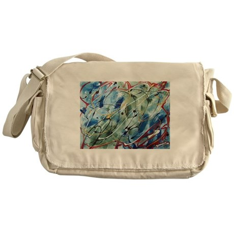 Untitled Abstract Messenger Bag