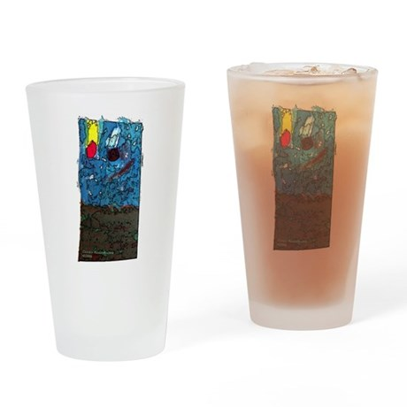Two Asteroids Drinking Glass