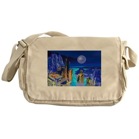Fantasy Cityscape Messenger Bag