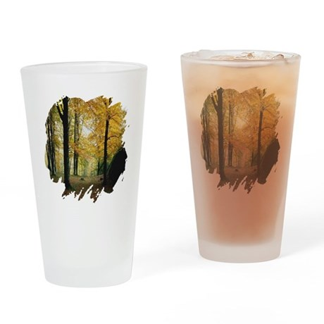 Autumn Woods Drinking Glass