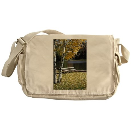 Picnic Table Messenger Bag