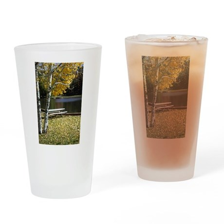 Picnic Table Drinking Glass