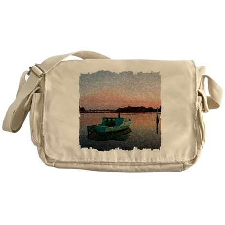 Sunset Boat Messenger Bag