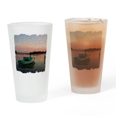 Sunset Boat Drinking Glass