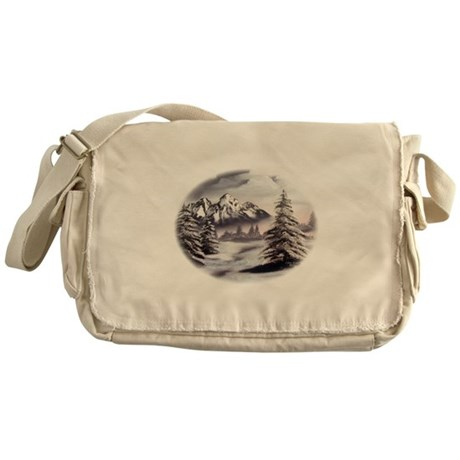 Snow Mountain Messenger Bag