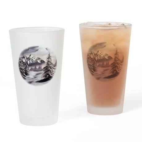 Snow Mountain Drinking Glass