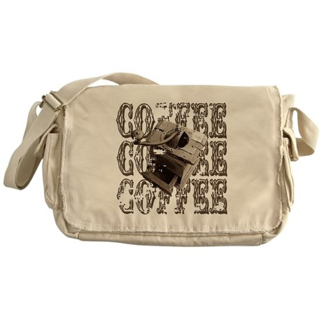 Coffee Grinder - Sepia Messenger Bag