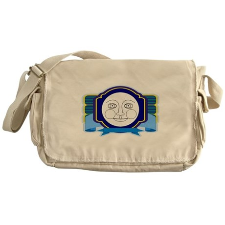 Blue Moon Face Messenger Bag