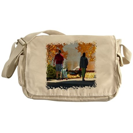 Early Autumn Stroll Messenger Bag