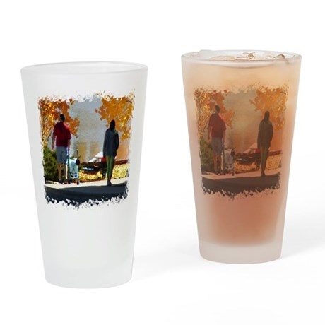 Early Autumn Stroll Drinking Glass