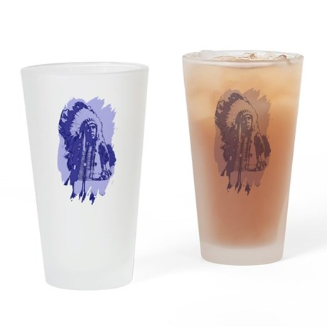 Indian Chief Drinking Glass