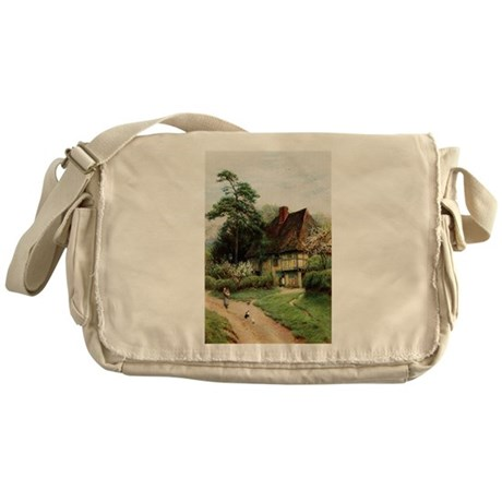 English Country Cottage Messenger Bag