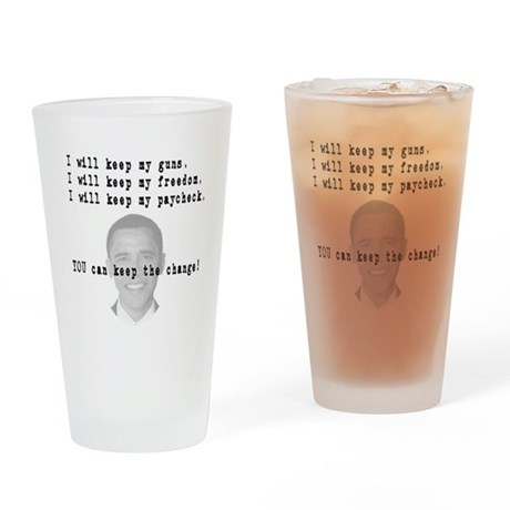 Keep the Change Drinking Glass