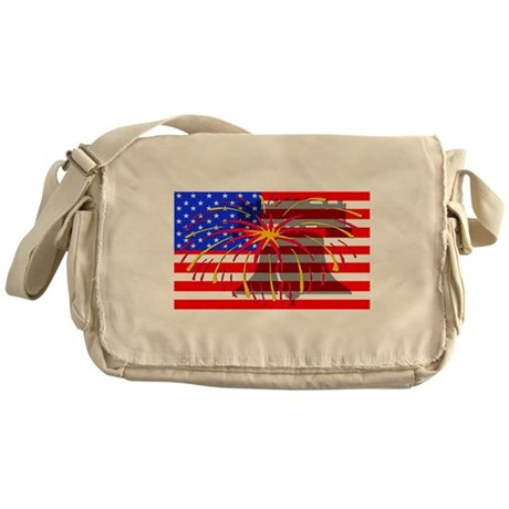 4th of July Independence Messenger Bag