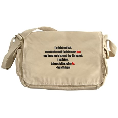 Peace and War Messenger Bag
