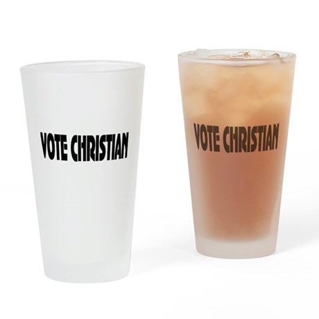 Vote Christian Drinking Glass