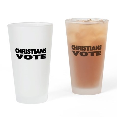 Christians Vote Drinking Glass